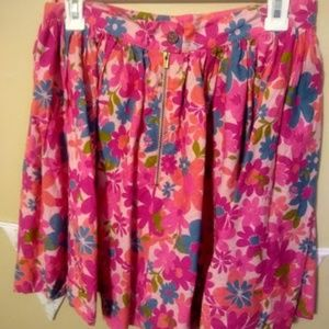 Tracy Feith Skirts - Barbie Pink Floral Skirt Tracy Feith